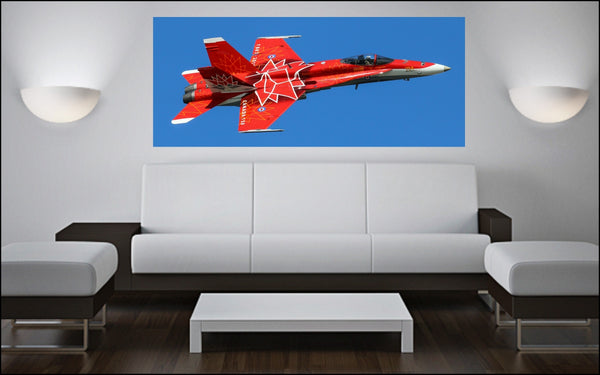 "CANADA150 CF-18 Demonstration Team Hornet 72"" x 30"" Giant Image Wall Art"