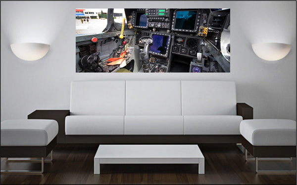 "CF-18 Hornet Cockpit 72"" x 30"" Giant Image Wall Art"