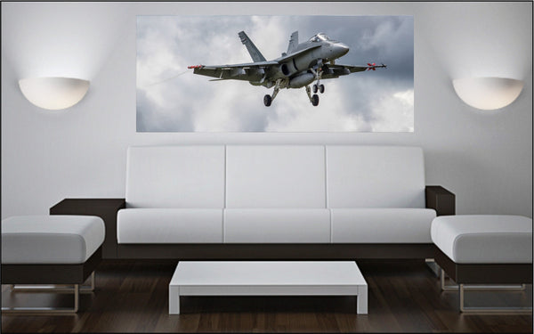 "CF-18 Hornet Aggressor 72"" x 30"" Giant Image Wall Art"