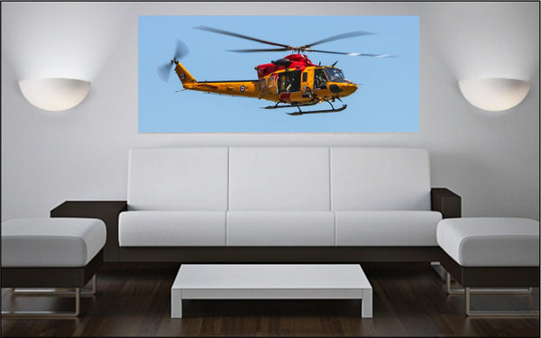 "CH-146 Griffon SAR Helicopter 72"" x 30"" Giant Image Wall Art"