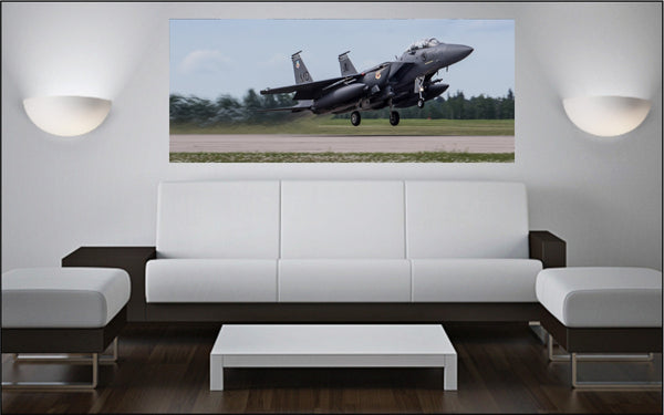 "F-15SG Eagle Take Off 72"" x 30"" Giant Image Wall Art"