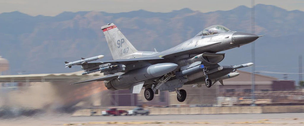 "F-16 Viper Launch 72"" x 30"" Giant Image Wall Art"