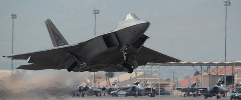 "F-22 Raptor Launch 72"" x 30"" Giant Image Wall Art"