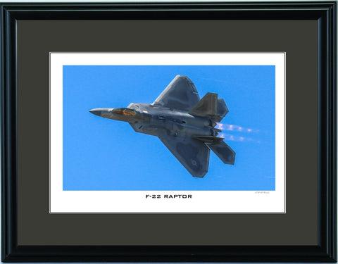 """F-22 Raptor"" Fine Art Aviation Print"