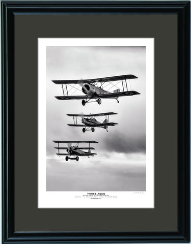 """Three Aces"" Fine Art Aviation Print"