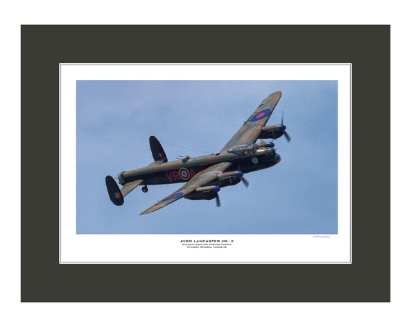 """Avro Lancaster Mk. X"" Fine Art Aviation Print"