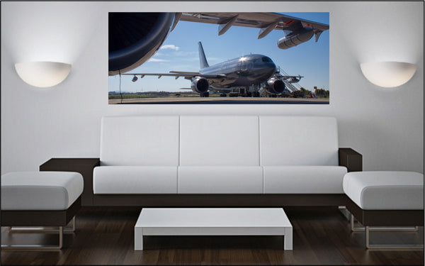 "CC-150T Polaris Tanker on Trapani Ramp 72"" x 30"" Giant Image Wall Art"