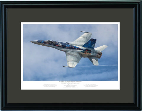 """The True North, Strong & Free"" Fine Art Aviation Print"