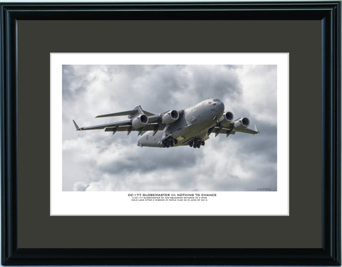 """CC-177 Globemaster III: Nothing To Chance"" Fine Art Aviation Print"