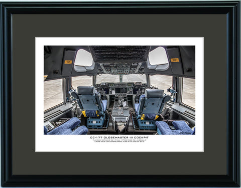 """CC-177 Globemaster III Cockpit"" Fine Art Aviation Print"