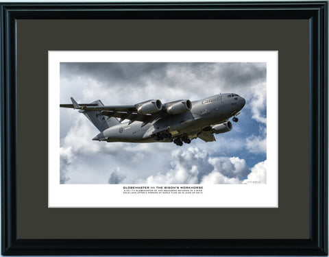 """Globemaster III: The Bisons Workhorse"" Fine Art Aviation Print"