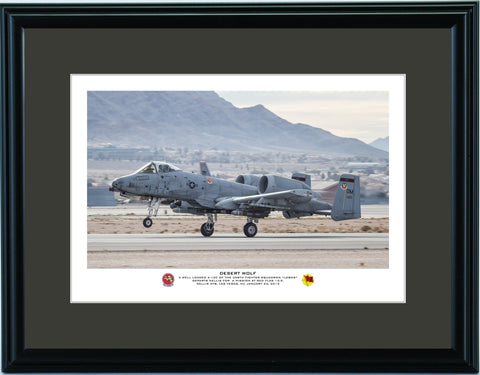 """Desert Wolf"" Fine Art Aviation Print"