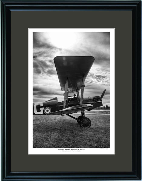 """Wood, Steel, Fabric & Guts SE5A"" Fine Art Aviation Print"