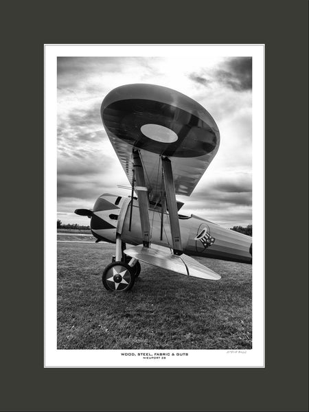 """Wood, Stel, Fabric & Guts Nieuport 28"" Fine Art Aviation Print"