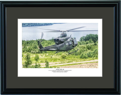 """Into The LZ"" Fine Art Aviation Print"