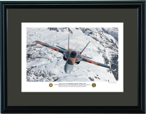 """2015 CF-18 Hornet Demo Team Jet"" Fine Art Aviation Print (Version D)"