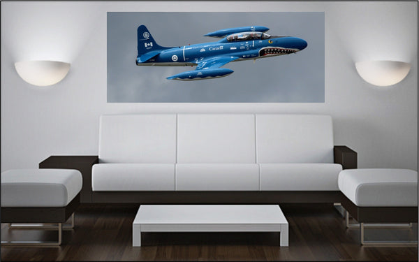 "Canadair T-33 ""Mako Shark"" 72"" x 30"" Giant Image Wall Art"