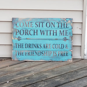 Come sit on the porch with me