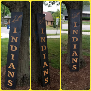 Front Porch sign Minooka Indians