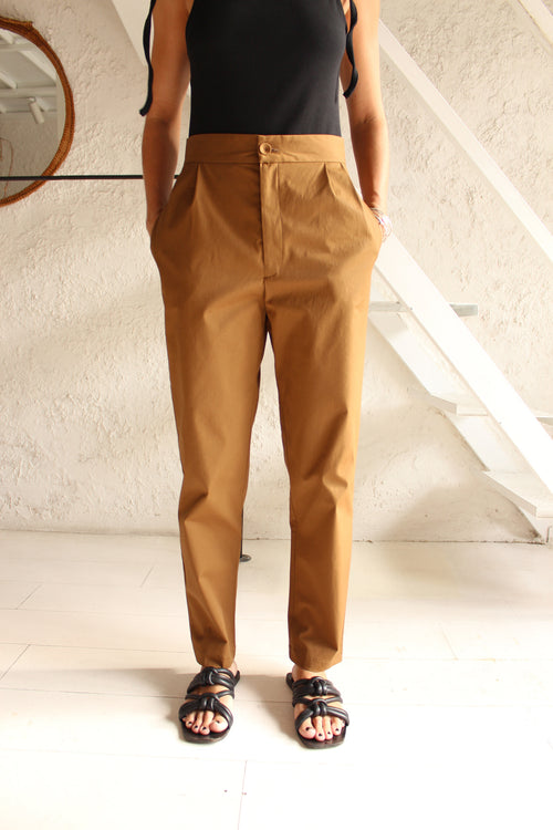 Button Trousers-Khaki