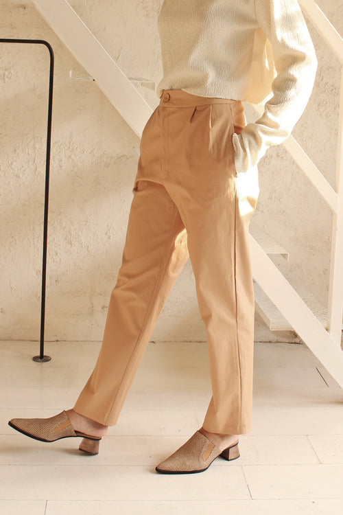 Button Trousers- Powder