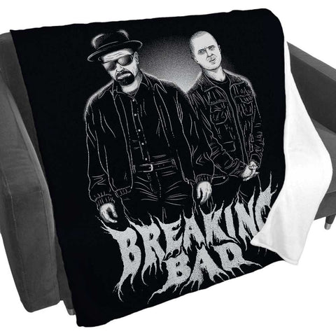 Breaking Bad Character Black Fleece Blanket