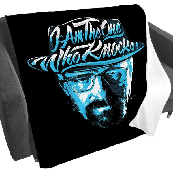 I Am the One Who Knocks Fleece Blanket from Breaking Bad