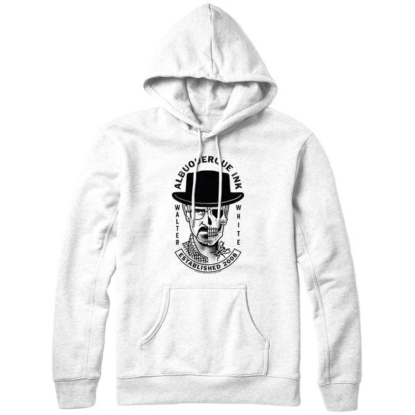 Walter White Albuquerque Ink White Hoodie from Breaking Bad