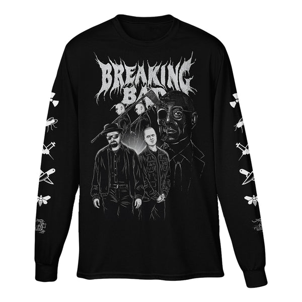 Breaking Bad Character Long Sleeve Black Tee
