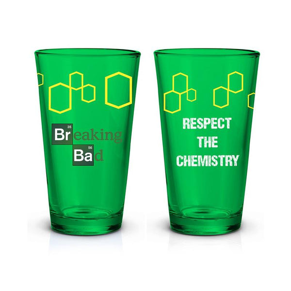 Breaking Bad Green Glass Logo Pint Glass