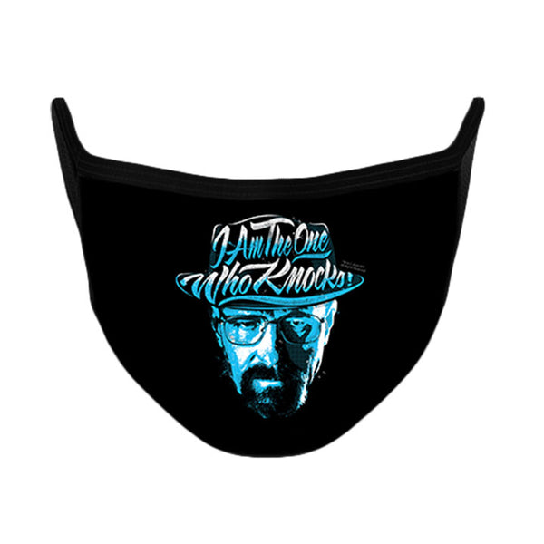 I Am the One Who Knocks Face Mask from Breaking Bad