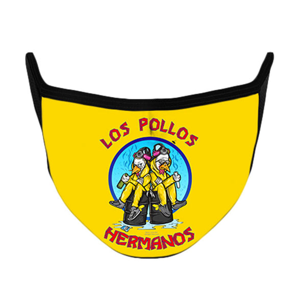 Los Pollos Hermanos Face Mask from Breaking Bad