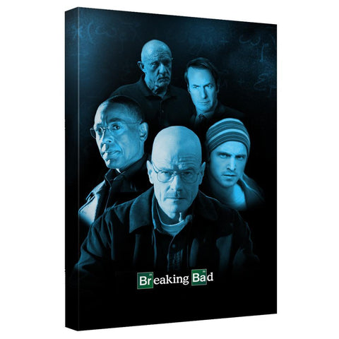 Breaking Bad Blue Cast Canvas Wall Art