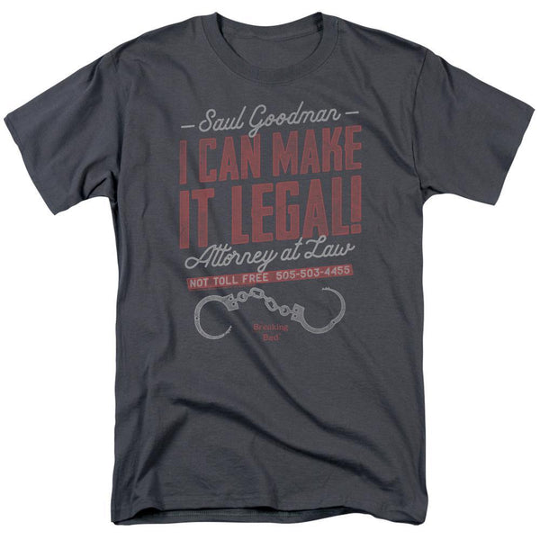 Better Call Saul Make It Legal Adult Charcoal T-Shirt