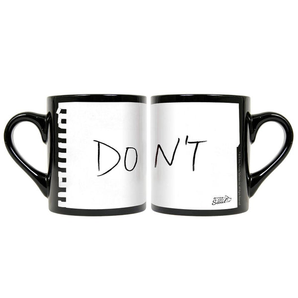 "Better Call Saul ""Don't"" Note Black Mug"