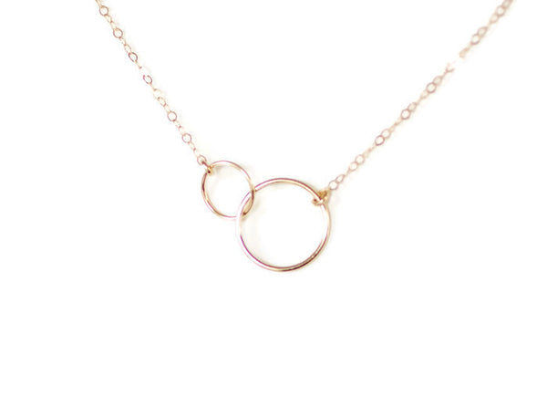 The Claire Two Circle Necklace (Gold or Silver)