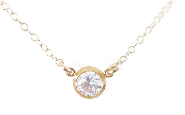 The Isabel Cubic Zirconia Necklace (Gold or Silver)