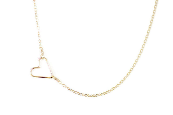The Grace Heart Necklace (Silver or Gold)