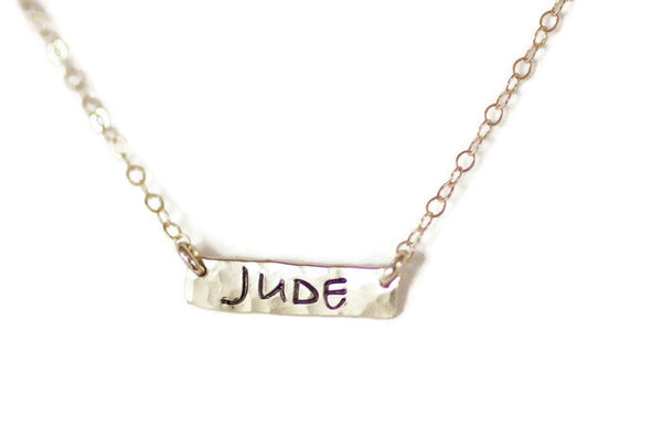 The Jude Personalized Bar Necklace (Gold or Silver)