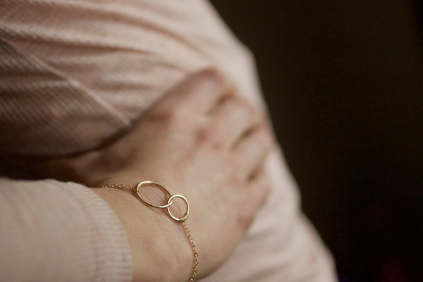 The Claire Two Circle Bracelet (Gold or Silver)