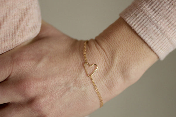 The Grace Heart Bracelet (Silver or Gold)