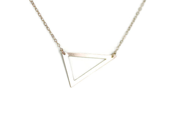 The Sadie Open Triangle Necklace (Gold or Silver)