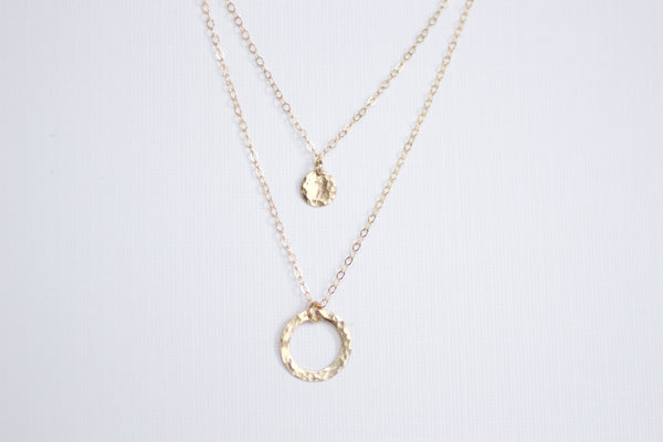 The Ava Two Tier Necklace (Silver or Gold)