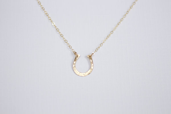 The Lucky Horseshoe necklace (Gold or Silver)