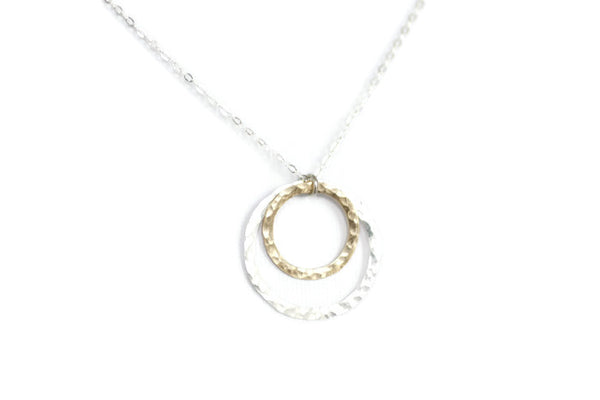 The Olivia Hammered Circles (Mixed Metals)