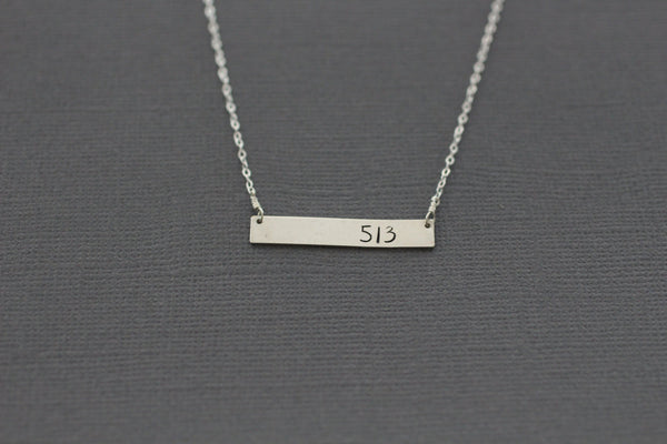 The 513 necklace Area code or initial (Gold or Silver)