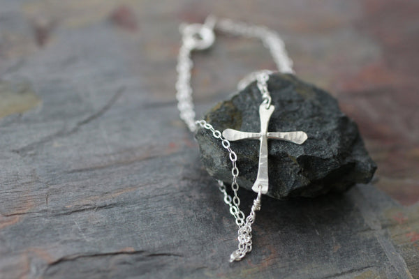 The Magdalene Cross Bracelet (Gold or Silver)