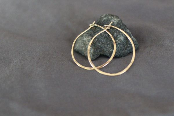 The Mary Hammered Hoop Earrings (Gold or Silver)