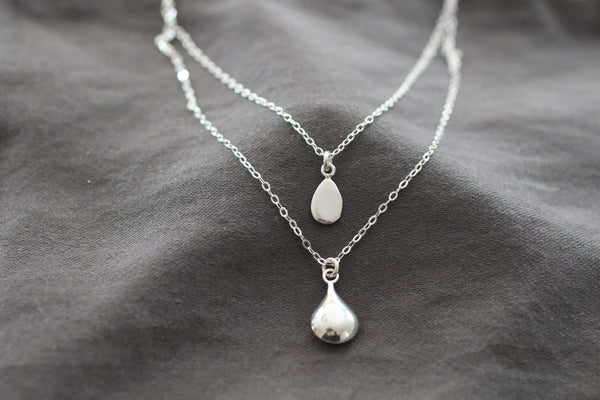 The Hudson Two Tier Teardrop Necklace (Sterling Silver)