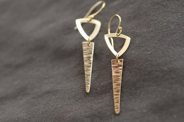 The Hannah Dagger Earrings (Gold or Silver)